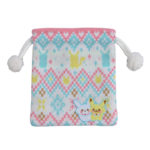 PCO Knitted Pikachu Snowman Drawstrings pouch