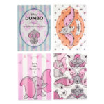 DSJ Dumbo Clear Folder Set Pink