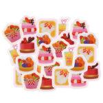 DSJ Mickey and Minnie Sweets Flake Sticker