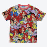 TDR all over patterned t-shirt The Little Mermaid Japanese Adult Unisex S/M/L