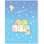 SAX Sumikko Gurashi 6+1 Pockets Clear Folder (Night Sky)