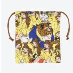 TDR All Over Patterned Beauty and the Beast Belle Drawstrings Pouch