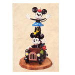 DSJ Mickey 90th Artist Goods Mickey and Minnie Figure Postcard