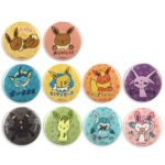 PCO Project Eevee Clear Tin Badge 10pics Complete box