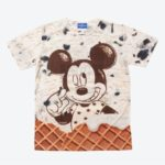 TDR Ice Cream Design Mickey Mouse T-shirts Japanese adult Unisex M/L