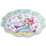 TDR Princess Flower design Ariel Plate