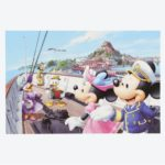 TDR Mickey and Friends in the boat Postcard