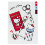 SRO HELLO KITTY ACTION ReTouch Clear Folder with Index Tab