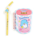 SRO Tuxedo Sam Drinking Cup Notebook and Straw-Shaped Pen