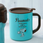 PNT Coffee Time Snoopy Stainless Mug with Lid