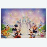 TDR Mickey and Friends in front of the castle Postcard