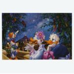 TDR Donald and Daisy star festival Postcard