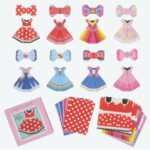 TDR Minnie Mouse Costume and Ribbon Origami Memo