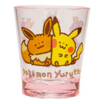 PCO Pokemon Yurutto Pikachu and Eevee Plastic tumbler/Cup(Pink)