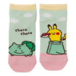 PCO Pokemon Yurutto2 PY Bulbasaur and Pikachu short socks