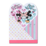 TDR Mickey and Minnie Kiss Memo Pad