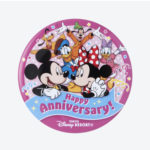 TDR Mickey and Friends Happy Anniversary Tin Badge