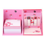 DSJ Lotso Pink Stationery Stikey Note and Memo Set with Pen Stand