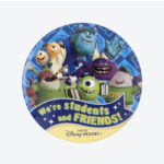 TDR Monster's inc We're students and Friends Tin Badge