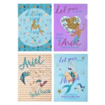 DSJ Ariel and Flounder Sea Mosaic Clear Folder Set