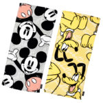 DSJ Mickey and Pluto Face Towel Set – NAME