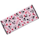 TDR Minnie Mouse Black x Red Face Towel