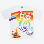 TDR Rainbow Minnie Mouse T-Shirts (LL) Japanese Adult Unisex