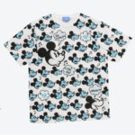 TDR Mickey Mouse All Over Patterned T-Shirt Unisex LL (Blue)