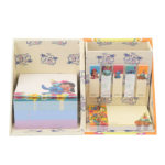 DSJ Hawaiian Stitch Sticky note and memo pads with Pen Stand