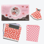 TDR Minnie Mouse Dress Origami Memo