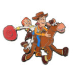 DSJ SUNNYSIDE Toy Story Woodie and Jessie Pin Badge