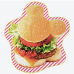 TDR Park food design Mickey Hamburger Big towel