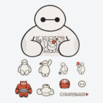 TDR Big Hero 6 Baymax Sticker Set