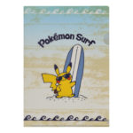 PCO Pokemon Surf A4 Clear File Pikachu
