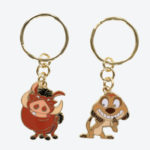 TDR Lion King Pumbaa and Timon Keychain Set