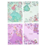 DSJ Romantic Dress Ariel Rapunzel Clear Folder Set
