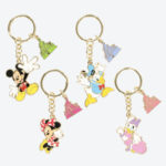 TDR Mickey and Friends Cinderella Castle Keychain Set