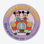 TDR Park Attractions Design Mickey and Minnie Tin Badge