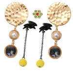 DSJ Fashion Party Maleficent earrings set