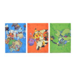 PCO Halloween Festival! A4 clear file set of 3 Pikachu