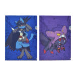 PCO Halloween Festival! Set of 2 A4 clear files Lucario