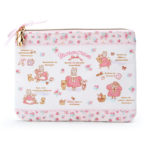 SRO Sewing Marroncream Flat Pouch