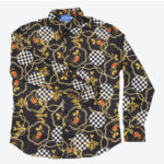 TDR Mickey Mouse Long Sleeve Shirts Black & Gold S/M/L Japanese Adult Unisex
