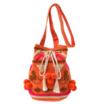DSJ ACCOMMODE Mickey shoulder bag orange geometric