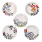 DSJ Fantasy Alice in Wonderland small plate set of 5