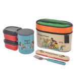 DSJ Mickey & Friends Lunch Box with Ultralight Insulation Jar Picnic