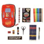 DSJ Lightning Mcqueen Stationery Set Zip Case Cars / Cross Road