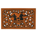 DSJ Mickey & Minnie Doormat Brown Heart