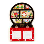 SRO Japanese Style Calender Card 2020 Hello Kitty Round Shelf