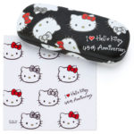 SRO I Love Hello Kitty 45th Anniversary Glasses Case with Cross